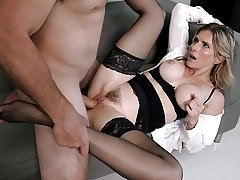 Hot Office MILF Seduced In To Anal By Her Well Hung Boss - Cory Go out after