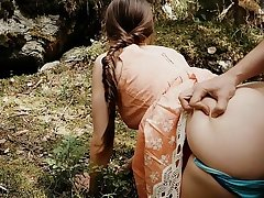 Forest Quickie with Sweltering Teen Public Sex