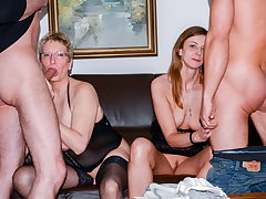 AmateurEuro - Erna & Liss Longlegs Hot 4some With Their Guys