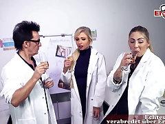 German Sex, nurse masturbates in hospital and gets mishandle