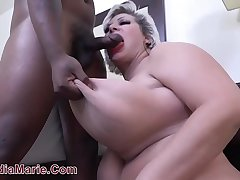 18 Year OId Black Boy Rampages On Saggy Fake Tit Cow Claudia Marie