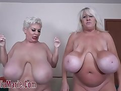 Kayla Kleevage VS Claudia Marie In A Saggy Tit Duel
