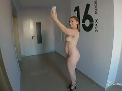 Public dare. Totally unclad selfies yon cum out of reach of my orientation