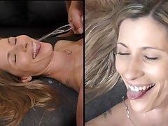 SPERM Siren ON HER CUTE FACE - SKINNY Furnish MILF GETS MASSIVE FACIAL