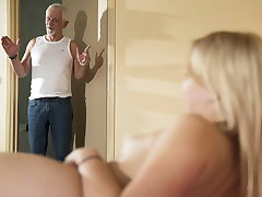 Hello grandpa, please have sex my pussy with the addition of let me swallow cum