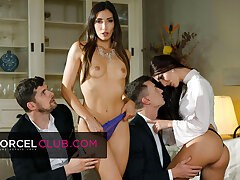 Indecent foursome up Clea Gaultier increased by Katy Rose