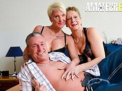 AMATEUR EURO - Annette Liselotte, Erna & Hiltrude Lesbo 3way