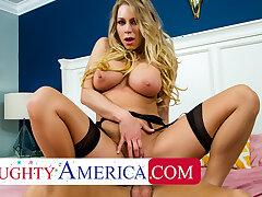 Naughty America - Katie Morgan fucks the brush husband's side