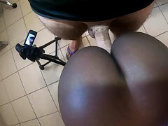 Beautiful African ass fucked increased by creampied in POV