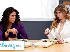 GIRLSWAY – Stacked Lena Paul Bangs Her Colleague Yon Break Room