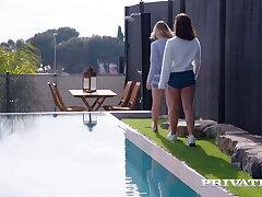 Private.com - Ginebra Bellucci And Mona Blue Tush Fucked!