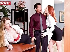 LETSDOEIT - Shows Us What You Got Boss! Nobody Will Know (Bunny Colby & Lacy Lennon)