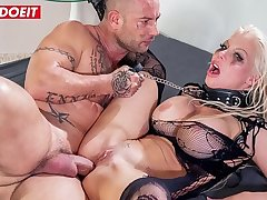 LETSDOEIT - Busty Blonde Has Her First Rough Anal Sex And She Loves It (Barbie Sins & Mike Angelo)