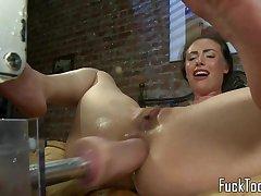 Masturbating amateur squirts obtaining toyed